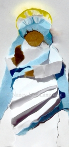 Mother Teresa, artwork by Nancy Jane Lang, copyright 2016 nancyjanelang.com