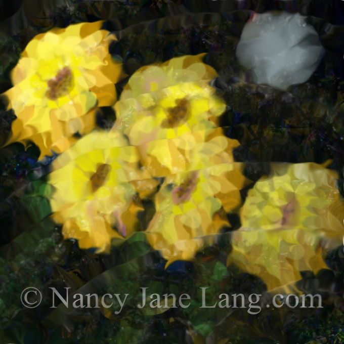 """Reflection on Vincent's Pond"", illustration by Nancy Jane Lang, copyright 2016"
