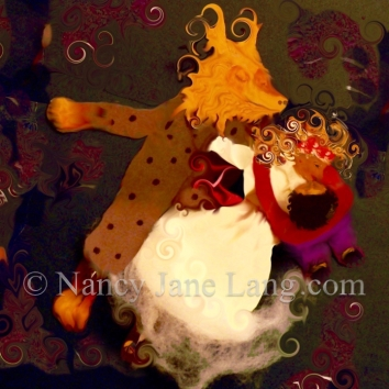 Beauty & Beast, illustration by Nancy Jane Lang, copyright 2016