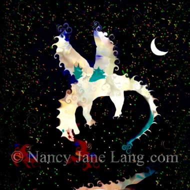 Draco, illustration by Nancy Jane Lang, copyright 2016