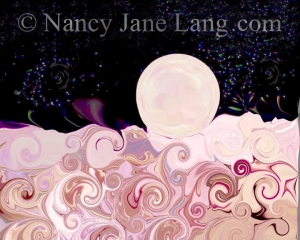 """Full Moon"", illustration by Nancy Jane Lang, copyright 2016"