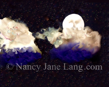 Night Breezes 1, illustration by Nancy Jane Lang, copyright 2016