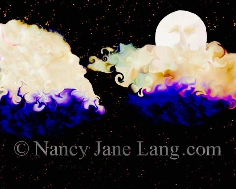 """Night Breezes 2"", illustration by Nancy Jane Lang, copyright 2016"