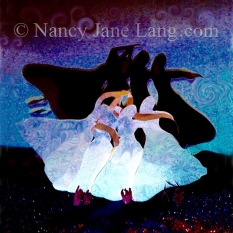 """""""Red Shoes 4"""", illustration by Nancy Jane Lang, copyright 2016"""