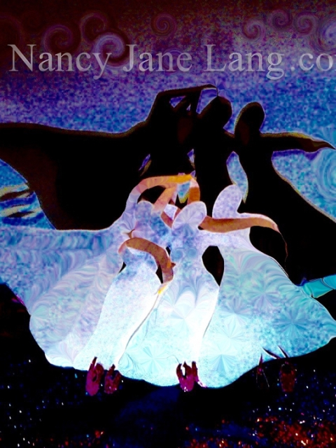 """Red Shoes 4"", illustration by Nancy Jane Lang, copyright 2016"