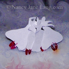 """""""Red Shoes 5"""", illustration by Nancy Jane Lang, copyright 2016"""