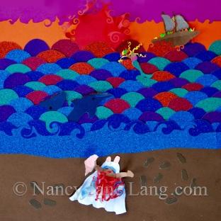 Ship of Fools, illustration by Nancy Jane Lang, copyright 2016