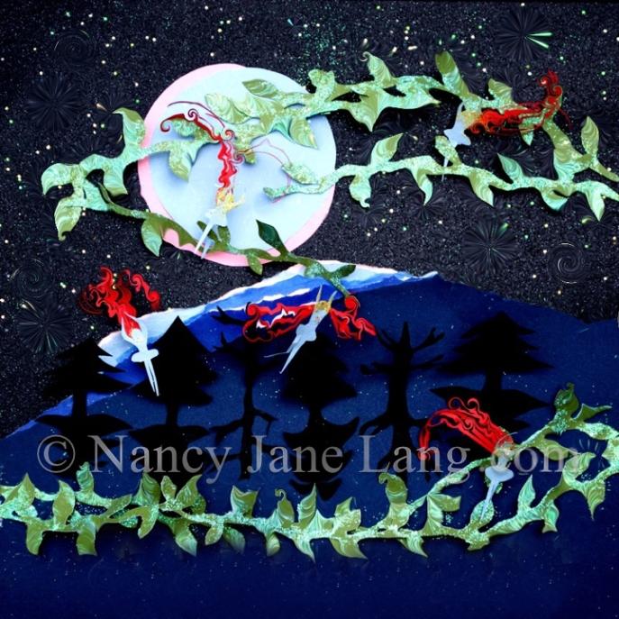 Yeat's Fairies, illustration by Nancy Jane Lang, copyright 2016