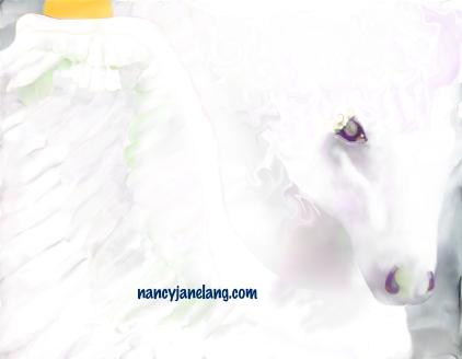 Pegasus 1 Artwork by Nancy Jane Lang, copyright 2017, nancyjanelang.com