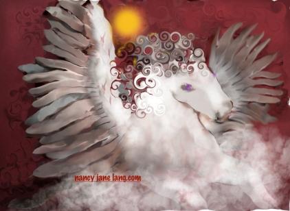 Pegasus 2, Artwork by Nancy Jane Lang, copyright 2017, nancyjanelang.com